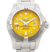 Breitling Avenger II Seawolf Steel 45mm Yellow Arabic numerals