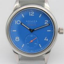 NOMOS Club Neomatik Steel 37mm Blue Arabic numerals