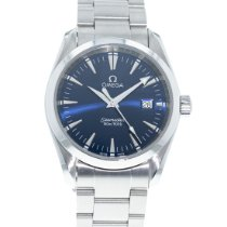 Omega Steel Quartz Blue 36mm pre-owned Seamaster Aqua Terra