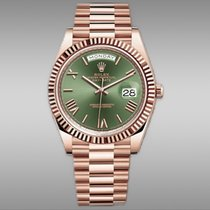 Rolex Day-Date 40 Or rose 40mm Vert Romains France, Paris