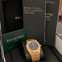 Audemars Piguet Royal Oak Jumbo Pозовое золото 39mm Синий Без цифр