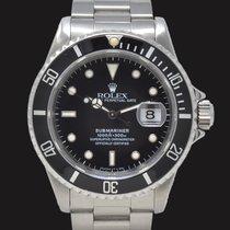 Rolex Submariner Date Stal 40mm Czarny Bez cyfr