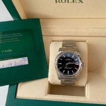 Rolex Oyster Perpetual 34 Acier 34mm Violet Arabes Belgique, Rocourt