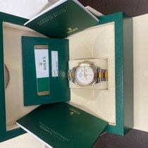 Rolex Daytona pre-owned 40mm White Chronograph Gold/Steel