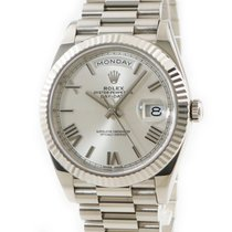 Rolex Or blanc Remontage automatique Argent occasion Day-Date 40