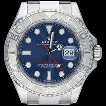 Rolex Yacht-Master 40 Acier 40mm Bleu Sans chiffres