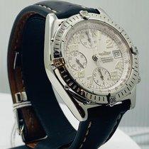 Breitling Blackbird pre-owned 40mm White Chronograph Date Calf skin