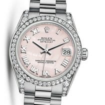 Rolex White gold Automatic Mother of pearl 31mm pre-owned Lady-Datejust