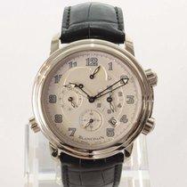 Blancpain Léman Réveil GMT White gold 40mm Silver Arabic numerals