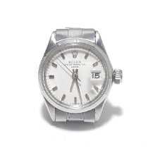 Rolex Oyster Perpetual Lady Date Acero 26mm Blanco Sin cifras España, Benicarló