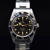 Tudor Submariner Steel 37mm Black No numerals