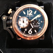 Graham Chronofighter Oversize Acero y oro 47mm Negro