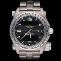 Breitling Emergency Титан Черный Aрабские