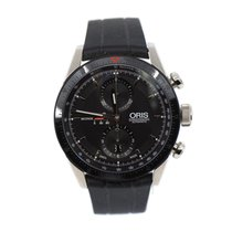 Oris Artix GT pre-owned 44mm Black Chronograph Date Rubber