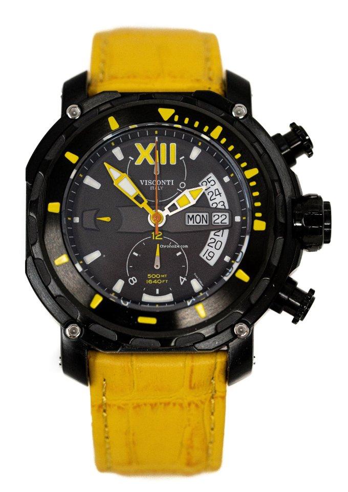 Visconti Automatic Watch Full Dive 500 Chrono Gun KW51 05