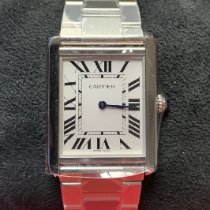 Cartier Tank Solo Steel 34.8mm Silver Roman numerals United States of America, New Jersey, Hoboken