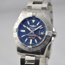 Breitling Avenger II GMT Steel 43mm Blue No numerals United States of America, Ohio, Mason