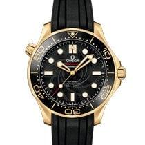 Omega Or jaune Remontage automatique Noir nouveau Seamaster Diver 300 M