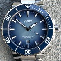 Oris Aquis Date Zeljezo 43.5mm Plav-modar Bez brojeva