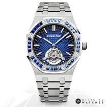 Audemars Piguet Royal Oak Tourbillon Platinum 41mm Blue No numerals