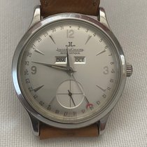 Jaeger-LeCoultre Master Calendar pre-owned 37mm Silver Date Weekday Month Leather