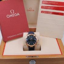 Omega Oro rosa Automático Azul Sin cifras 41mm usados Seamaster Aqua Terra