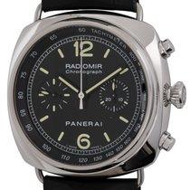 Panerai Radiomir Chronograph Acero 45mm Negro Arábigos