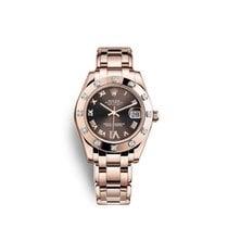 Rolex Lady-Datejust Pearlmaster Ruzicasto zlato 34mm Smedj Rimski brojevi