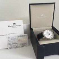 Maurice Lacroix Les Classiques Phases de Lune Stahl 40mm Weiß Römisch