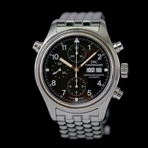 IWC Pilot Double Chronograph pre-owned 42mm Black Double chronograph Date Steel