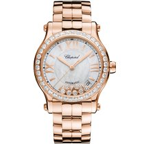 Chopard 274808-5007 Rose gold 2021 Happy Sport 36mm new