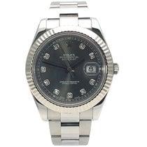 Rolex Datejust II Steel 41mm Grey No numerals
