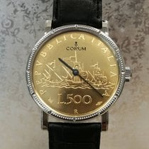 昆仑 鋼 36mm 自動發條 Coin Watch 新的