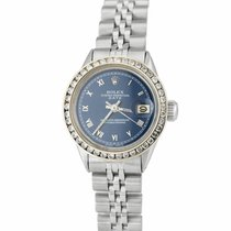 Rolex Oyster Perpetual Lady Date Steel 26mm Blue Roman numerals United States of America, New York, Massapequa Park