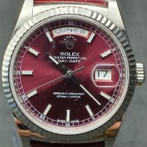 Rolex Oro blanco Automático Rojo Sin cifras 36mm usados Day-Date 36