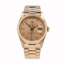 Rolex Yellow gold Automatic Gold No numerals 36mm pre-owned Day-Date 36