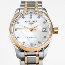 Longines Master Collection pre-owned 25,50mm Mother of pearl Date Gold/Steel