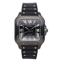 Cartier Santos (submodel) Steel 39.8mm Black United States of America, Georgia, Alpharetta