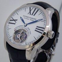 Ulysse Nardin Or blanc Remontage manuel Blanc Romains 44mm nouveau Classic Ulysse Anchor Tourbillon