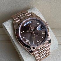 Rolex Day-Date 40 Or rose 40mm Brun Romains France, Paris