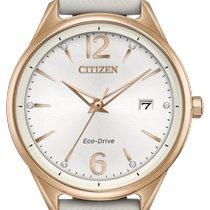 Citizen Yellow gold Quartz Silver No numerals 37mm new
