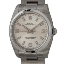 Rolex Oyster Perpetual 34 Steel 34mm Silver Arabic numerals United States of America, Texas, Austin