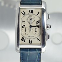 Cartier Tank Américaine Or blanc 26mm Blanc Romains France, Cannes