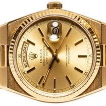 Rolex Day-Date Oysterquartz Желтое золото 36,00mm Золотой Без цифр