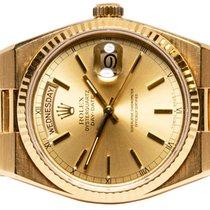 Rolex Day-Date Oysterquartz Geelgoud 36,00mm Goud Geen cijfers