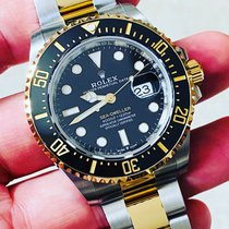 Rolex Sea-Dweller pre-owned 43mm Black Date Gold/Steel