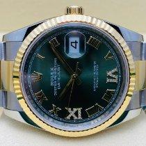 Rolex Datejust Or/Acier 36mm Vert Romains