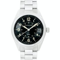 Hamilton Khaki Field Steel 40mm Black Arabic numerals United States of America, New Jersey, Cresskill