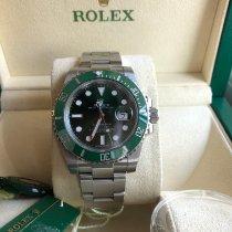 Rolex Submariner Date folosit 40mm Verde Data Otel