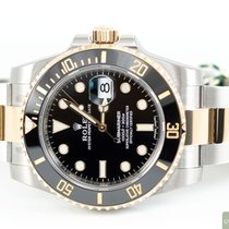 Rolex Submariner Date Gold/Steel 40,00mm Black No numerals